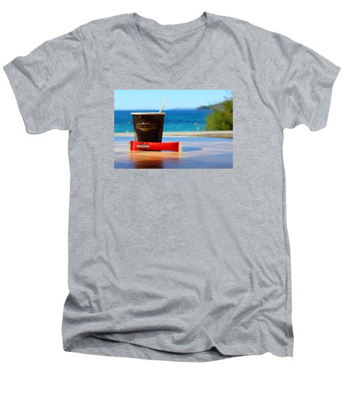 Men's V-Neck T-Shirt featuring the photograph Drink It In by Richard Patmore