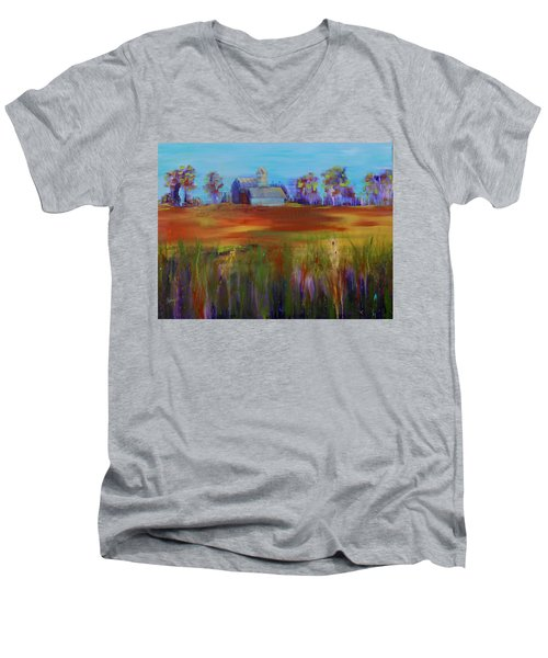 Drive-by View Men's V-Neck T-Shirt by Terri Einer