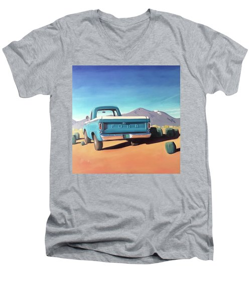 Drive Through The Sagebrush Men's V-Neck T-Shirt