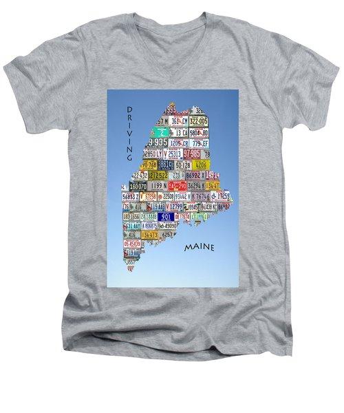 Driving Maine Men's V-Neck T-Shirt