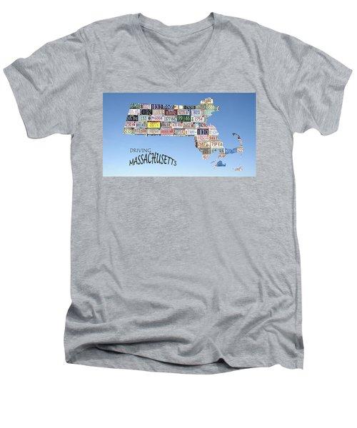 Driving Massachusetts Men's V-Neck T-Shirt