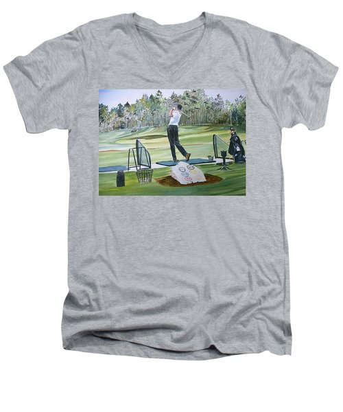 Driving Pine Hills Men's V-Neck T-Shirt