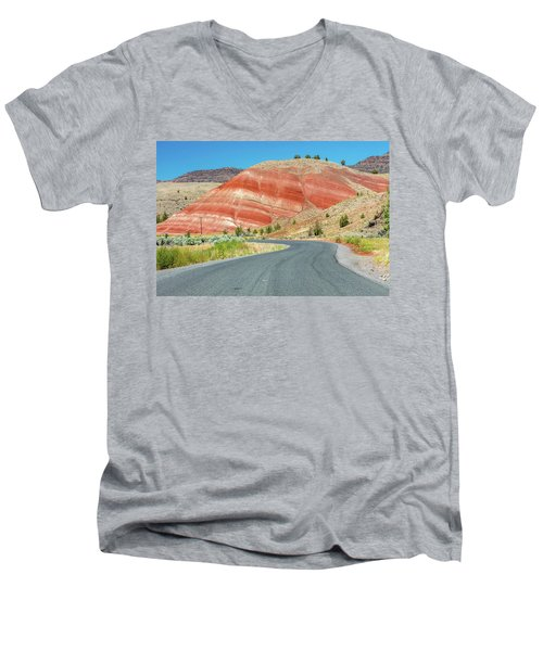 Men's V-Neck T-Shirt featuring the photograph Driving To Painted Hills by Pierre Leclerc Photography