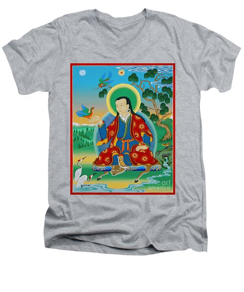 Drokben Khyecung Lotsawa Men's V-Neck T-Shirt by Sergey Noskov
