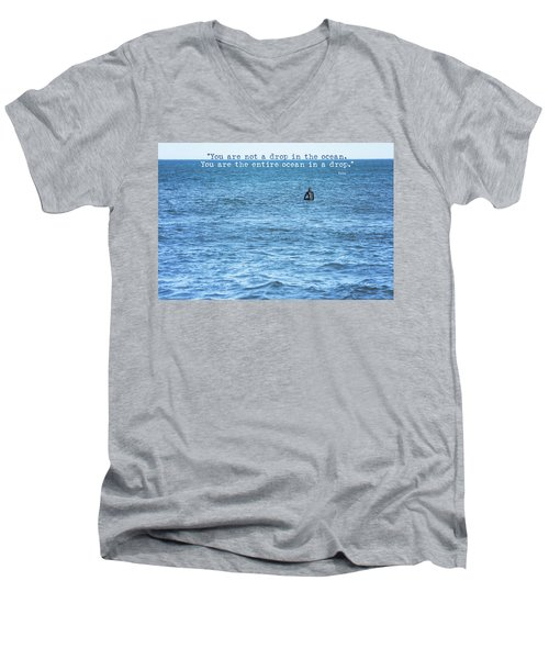 Drop In The Ocean Surfer  Men's V-Neck T-Shirt by Terry DeLuco