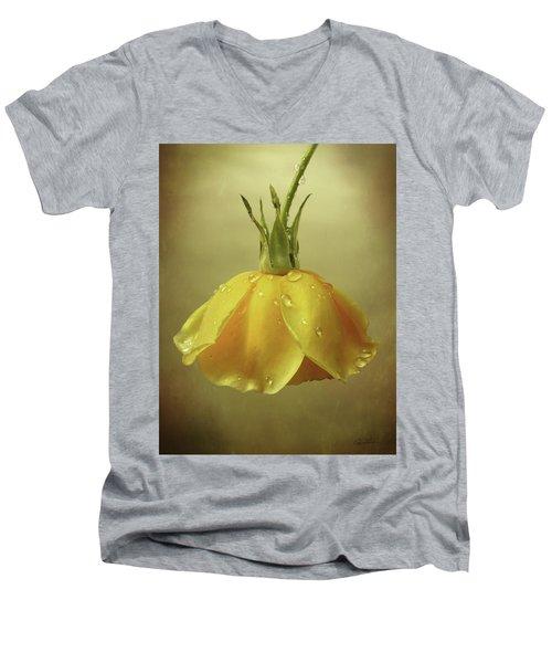 Drop Rose Men's V-Neck T-Shirt