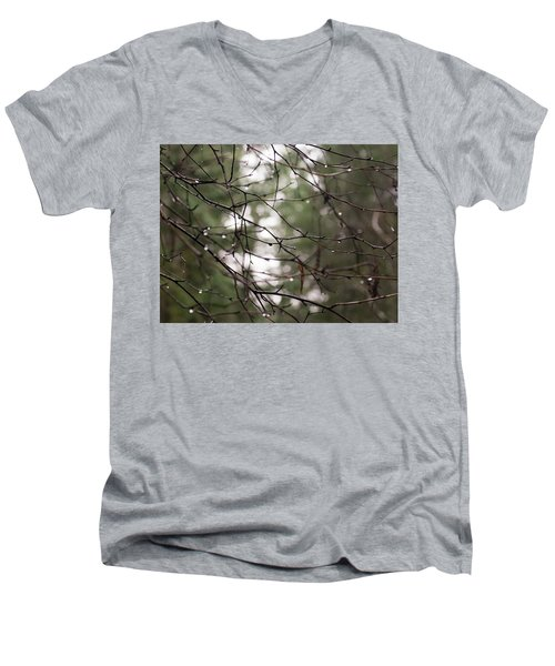 Droplets On Branches Men's V-Neck T-Shirt