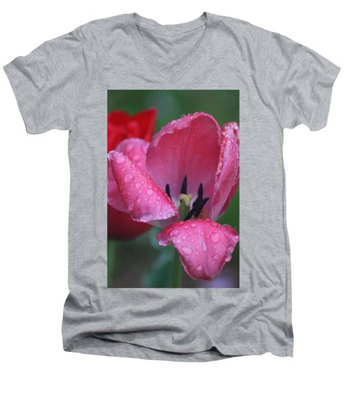 Drops Of Spring Men's V-Neck T-Shirt by Vadim Levin