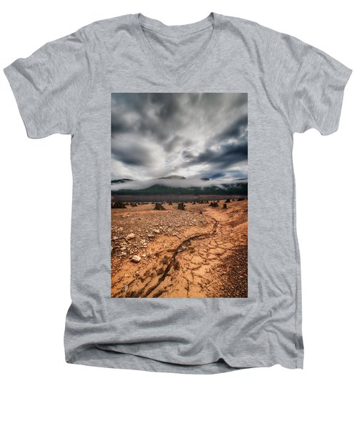 Men's V-Neck T-Shirt featuring the photograph Drought by Ryan Manuel