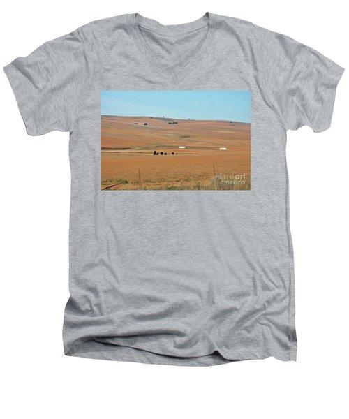Drought-stricken South African Farmlands - 1 Of 3  Men's V-Neck T-Shirt