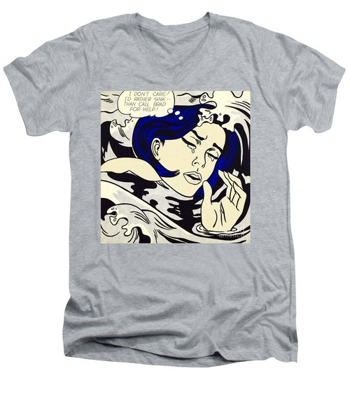 Drowning Girl Men's V-Neck T-Shirt