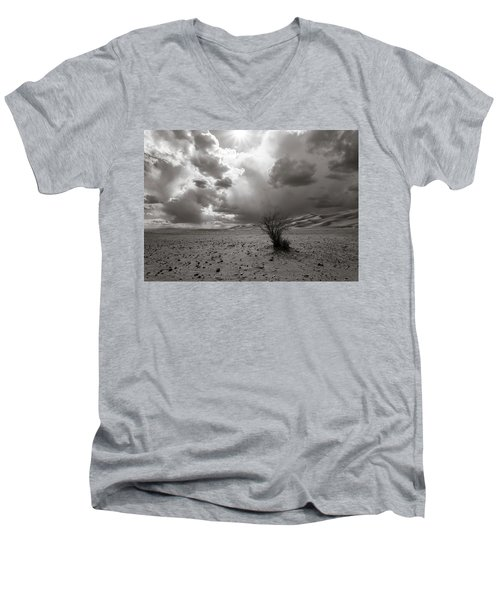 Men's V-Neck T-Shirt featuring the photograph Drowning On Dry Land by Alex Lapidus