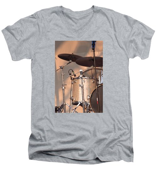 Drum Set Men's V-Neck T-Shirt