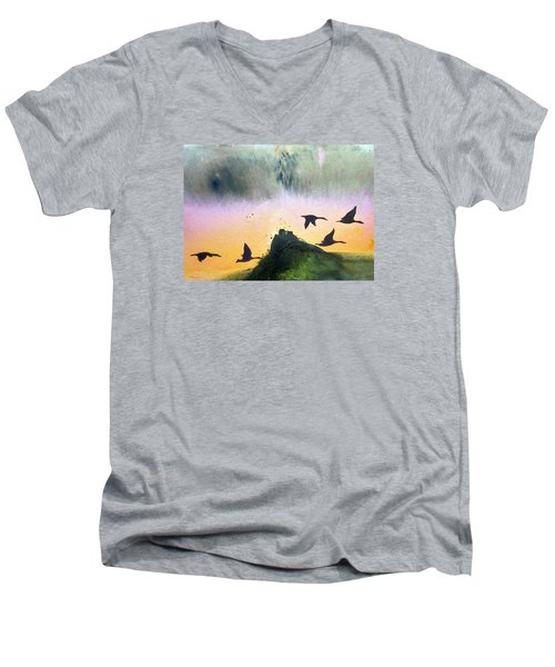 Lake Lucerne Men's V-Neck T-Shirt