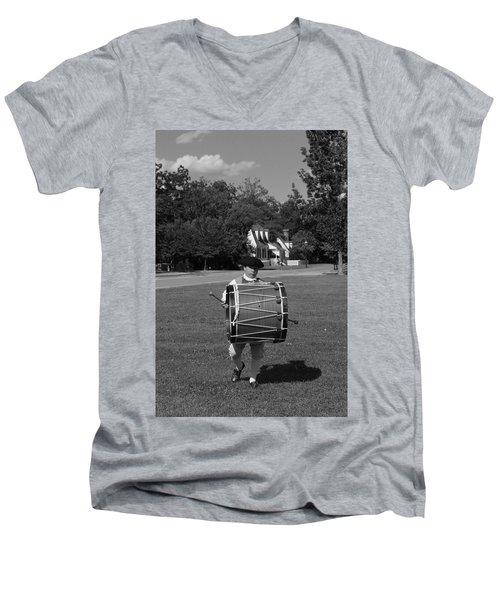 Drummer Boy Men's V-Neck T-Shirt by Eric Liller