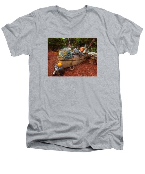 Men's V-Neck T-Shirt featuring the photograph Dry Dock Art by Thom Zehrfeld