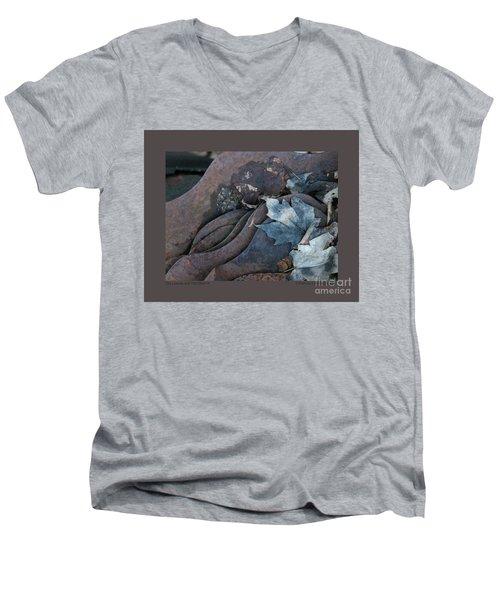 Dry Leaves And Old Steel-ix Men's V-Neck T-Shirt