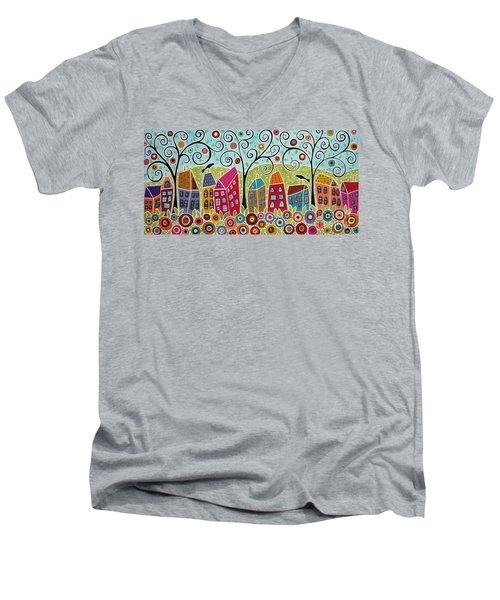 Dsc01598-swirl Tree Village Men's V-Neck T-Shirt