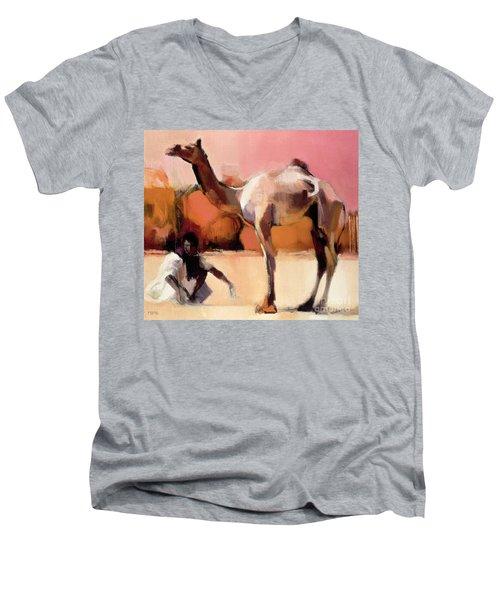 dsu and Said - Rann of Kutch  Men's V-Neck T-Shirt