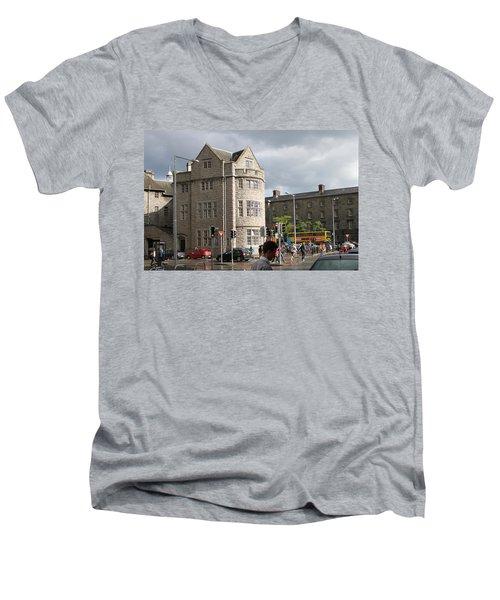 Dublin Near Pearse Street Men's V-Neck T-Shirt