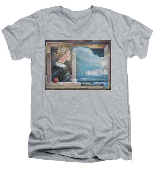 Dubrovnik On My Mind Men's V-Neck T-Shirt