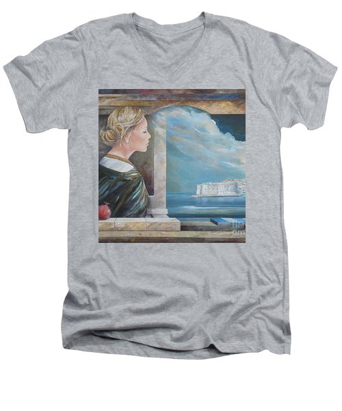 Dubrovnik On My Mind Men's V-Neck T-Shirt