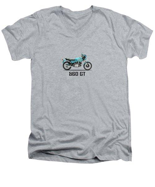 Ducati 860 Gt 1975 Men's V-Neck T-Shirt by Mark Rogan