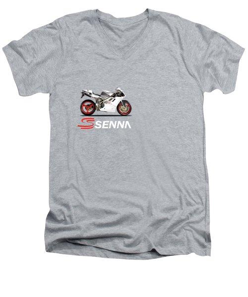 Ducati 916 Senna Men's V-Neck T-Shirt by Mark Rogan
