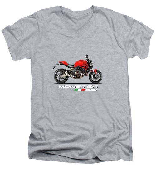 Ducati Monster 821 Men's V-Neck T-Shirt