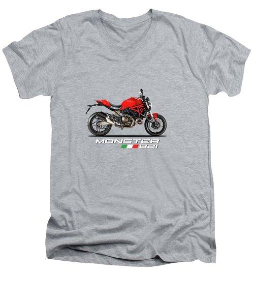 Ducati Monster 821 Men's V-Neck T-Shirt