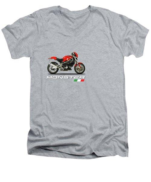 Ducati Monster S4 Sps Men's V-Neck T-Shirt by Mark Rogan