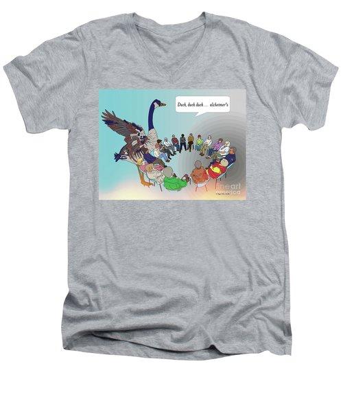 Duck, Duck, Alzheimers Men's V-Neck T-Shirt by Megan Dirsa-DuBois
