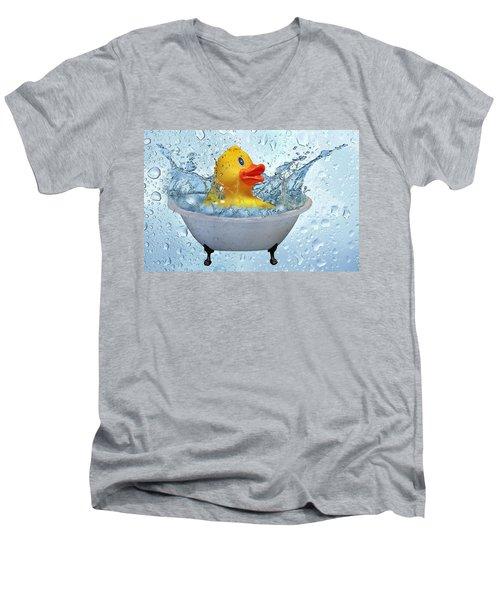 Duck Rubber Men's V-Neck T-Shirt