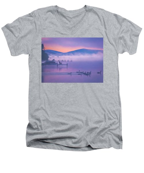 Ducks Under Fog Men's V-Neck T-Shirt
