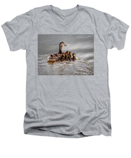 Ducky Daycare Men's V-Neck T-Shirt