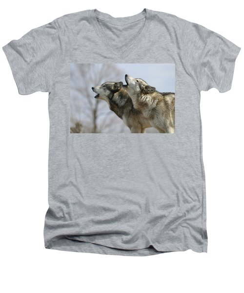 Duet Howl Men's V-Neck T-Shirt