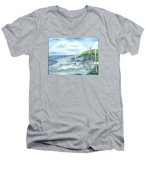 Dune Fences Isle Of Palms Men's V-Neck T-Shirt