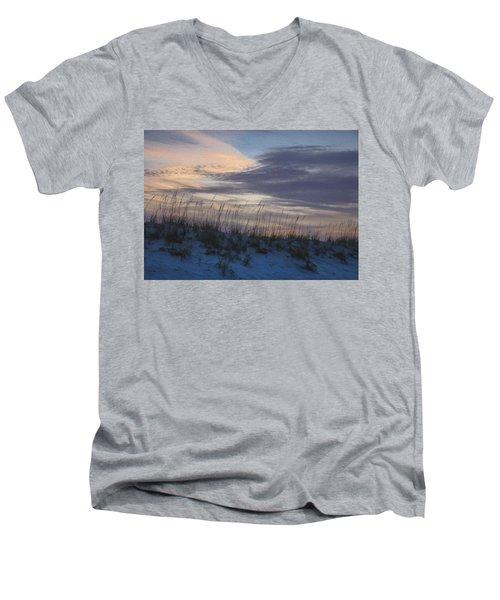 Dune Grass Blue Men's V-Neck T-Shirt