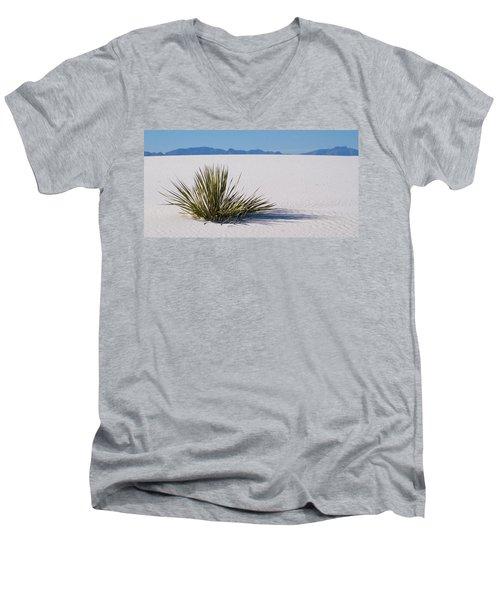 Dune Plant Men's V-Neck T-Shirt by Marie Leslie