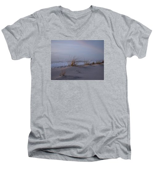Dune View 2 Men's V-Neck T-Shirt by  Newwwman