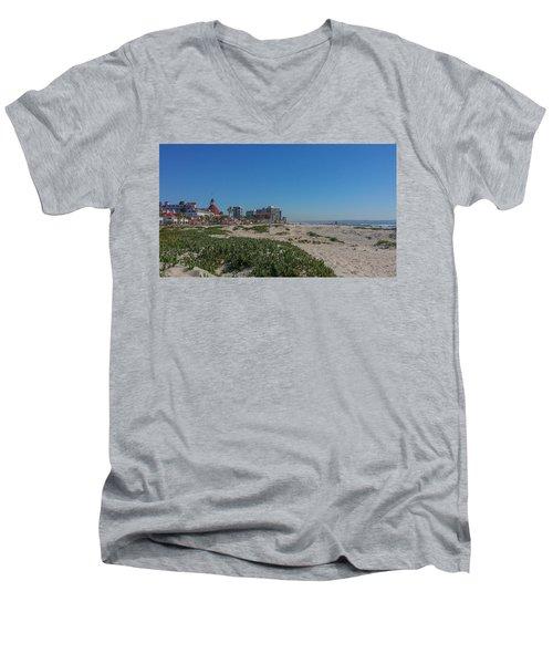 Dunes At The Del Men's V-Neck T-Shirt