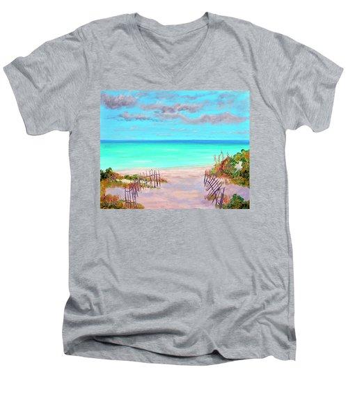Dunes Beach 2 Men's V-Neck T-Shirt