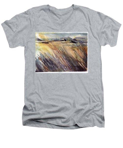 Dunescape Setting Men's V-Neck T-Shirt
