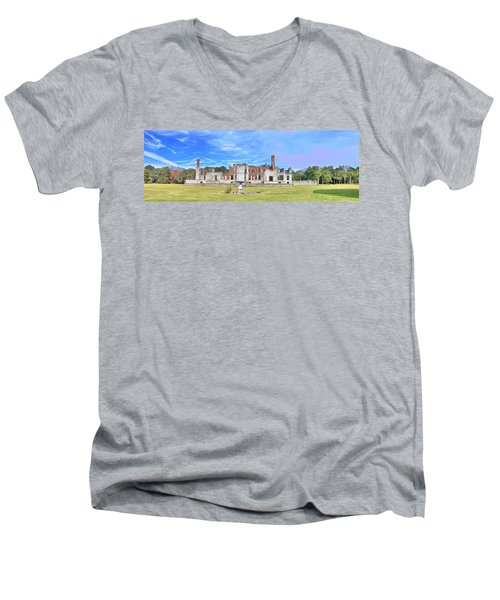 Dungeness Ruins Men's V-Neck T-Shirt