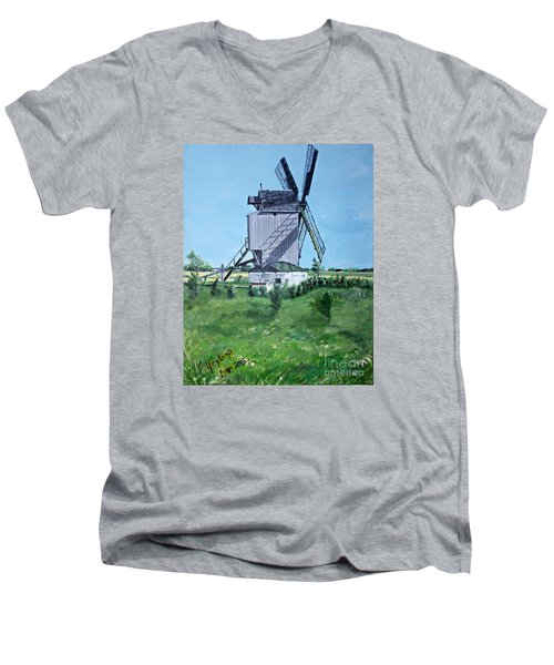 Dunkerque Windmill North Of France Men's V-Neck T-Shirt