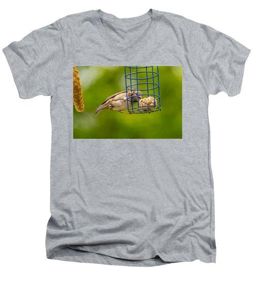 Dunnok Eating Men's V-Neck T-Shirt