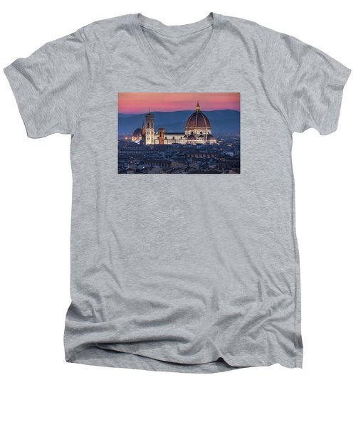 Duomo Di Firenze Men's V-Neck T-Shirt