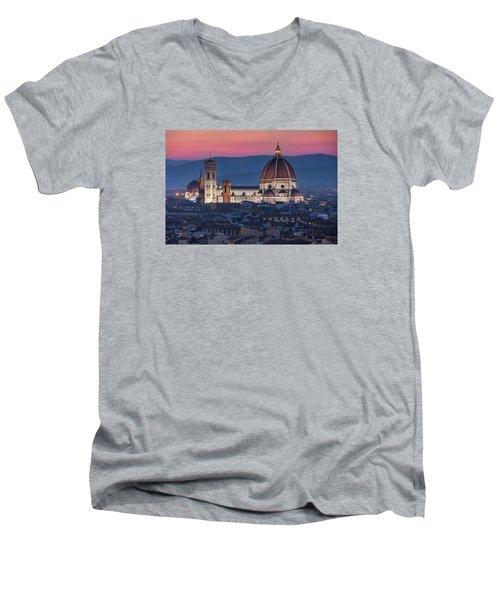 Duomo Di Firenze Men's V-Neck T-Shirt