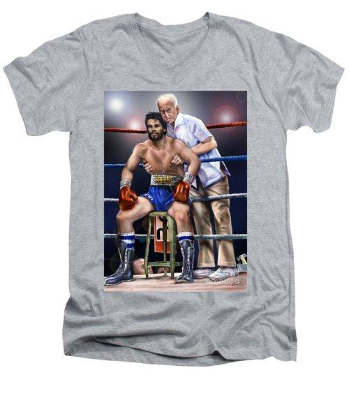 Duran Hands Of Stone 1a Men's V-Neck T-Shirt