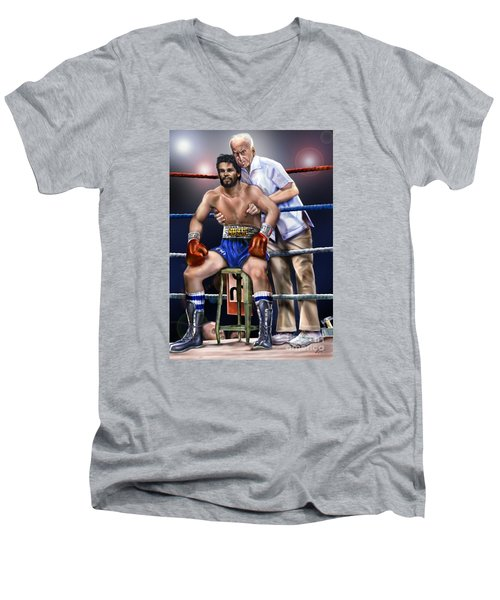Duran Hands Of Stone 1a Men's V-Neck T-Shirt